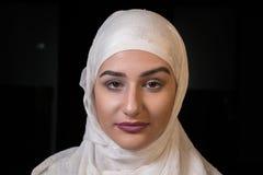 Мусульманский конец девушки вверх по портрету Стоковые Фотографии RF