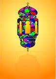 Мусульманский символ - традиционный арабский фонарик, лампа Стоковые Фотографии RF