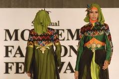 Мусульманский фестиваль 2014 моды Стоковое Изображение