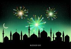 Мусульманский фестиваль общины Eid Mubarak Стоковая Фотография