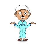 Мусульманский шарж Стоковая Фотография