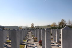 Мусульманское исламское кладбище Стоковое Фото