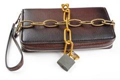 Муфта, прикованная с padlock Стоковая Фотография
