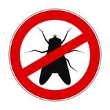 Муха запрета знака анти- - вектор иллюстрация штока