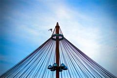 Муха птицы с башни стоковые фотографии rf