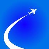 Муха самолета иллюстрация вектора