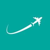 Муха самолета иллюстрация штока