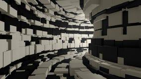 Муха через бесконечный тоннель видеоматериал