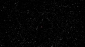 Муха через наружные глубокий космос и звезды HD/Astronomical реалистическое сток-видео