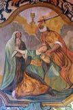 Мученичество и смерть St Барбары стоковые фото