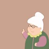 Мудрая старуха дает совет о жизни Стоковые Фото