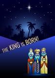 3 мудрецы посещают Иисус Христос после его рождения стоковая фотография