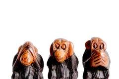 3 мудрых обезьяны Стоковые Изображения