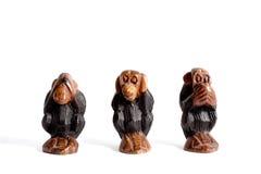 3 мудрых обезьяны Стоковое Изображение