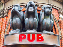 3 мудрых скульптуры обезьян Стоковая Фотография RF