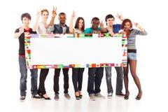 Мульти-этническая группа в составе молодые взрослые Стоковые Фото
