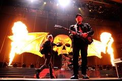 Мщенный в семь раз, известный диапазон тяжелого метала, концерт на этапе Olimpic de Бадалонаы Стоковое фото RF