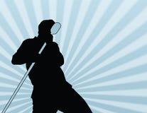 мыжская выполняя певица стоковое изображение
