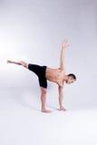 Мыжская модель йоги Стоковая Фотография RF