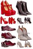 Мыжские и женские ботинки Стоковые Фото