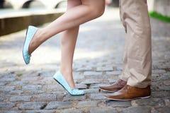 Мыжские и женские ноги Стоковая Фотография