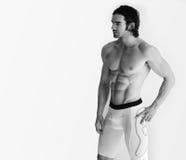 мыжское модельное без рубашки Стоковое Изображение