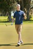 Мыжской игрок в гольф стоковое фото