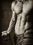 мыжской мышечный торс Стоковые Изображения RF
