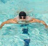 мыжской пловец стоковое изображение