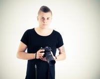 мыжской фотограф стоковые фотографии rf
