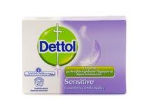 Мыло бара Dettol противобактериологическое чувствительное стоковые фотографии rf