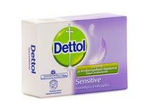 Мыло бара Dettol противобактериологическое чувствительное стоковые фото