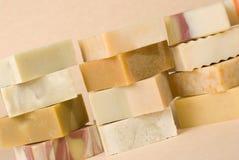 мыло группы handmade травяное материальное Стоковое Изображение RF