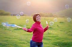 мыло пузырей Стоковое Изображение