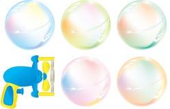 мыло пушки пузырей squirt Стоковая Фотография