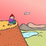 мыслитель горы Стоковая Фотография RF