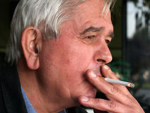 мыслитель курильщицы Стоковое Изображение RF
