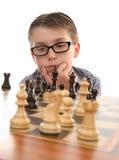 мыслитель шахмат стоковое изображение rf