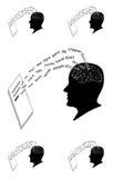 Мысли написанные вниз на бумаге стоковое фото rf