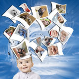 мысли ребенка Стоковые Изображения