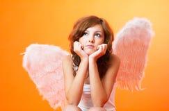 мысль ангела глубокая Стоковые Фото