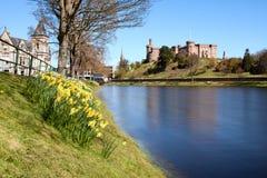 Мыс замка и реки Инвернесса, Шотландия Стоковые Фото