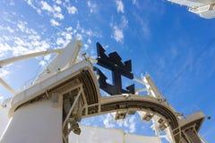 Мыс Канаверал, США - 29-ое апреля 2018: Амфитеатр театра Aqua на вкладыше круиза или оазисе корабля морей королевским Стоковое фото RF