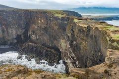 Мыс Dyrholaey, Исландия Стоковое фото RF