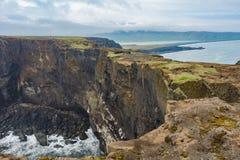 Мыс Dyrholaey, Исландия Стоковые Изображения RF