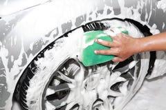 мытье автомобиля детализируя Стоковая Фотография RF