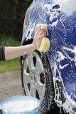 мытье автомобиля Стоковые Фотографии RF