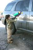 мытье автомобиля Стоковая Фотография