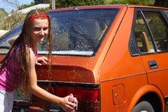мытье автомобиля Стоковое фото RF