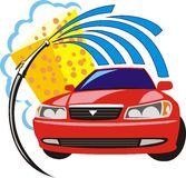 мытье автомобиля иллюстрация вектора